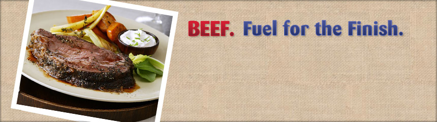 BEEF. Fuel for the Finish.